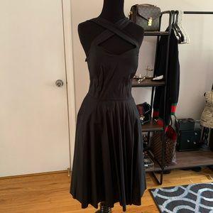 Black Crisscross Pinup Dress